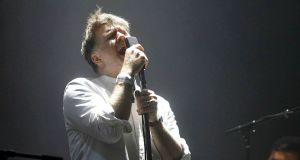 LCD Soundsystem lead singer James Murphy performing on stage during the Primavera Sound Festival in Barcelona, Spain. Photograph: Marta Perez/EPA