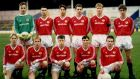 Adrian Doherty (extreme right, front row) lines out for Manchester United in the FA Youth Cup semi-final in 1990. Photograph: Getty Images