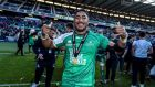 Bundee Aki was named player of the season in the Guinness Pro12 this season. Photograph: Billy Stickland/Inpho