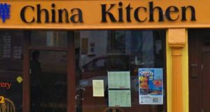 A google street view of the China Kitchen, Market Place, Clonmel, Tipperary, which was one of the food businesses served with a closure order by the FSAI in May.  Image: Google Street view