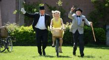 Participants at last year's Bloomsday bike rally in Dublin. Photograph: Dara Mac Dónaill