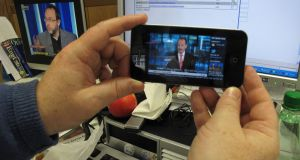 News streaming on an iPhone: Photograph: Frank Miller/The Irish Times