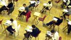 The number of students sitting the exam at higher level is set to jump further next year, when students now getting an E grade at higher level will receive equivalent CAO points as a grade C at ordinary level. Photograph: Cyril Byrne