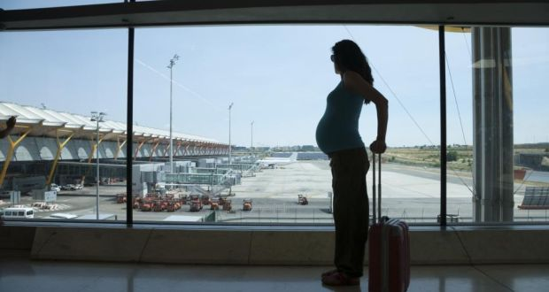 Women who are travelling to the US at a later stage in pregnancy should check their travel insurance policy as they may not be covered for medical treatment if they go into pre-term labour while in the States. Photograph: iStockphoto