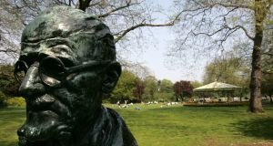 Bust of James Joyce in St Stephen's Green, Dublin. Photograph: Frank Miller
