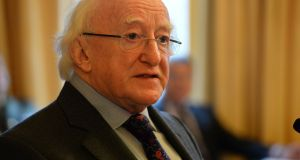 Given his repeated refusal to state that there will be no second term, it is reasonable to conclude that Higgins is at least considering putting his name forward for a further seven years. Photograph: Dara Mac Donaill/The Irish Times