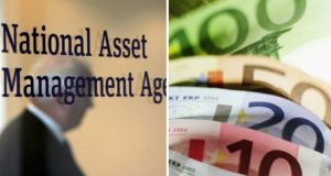 The National Asset Management Agency raised its lifetime surplus forecast to €2.3bn after reporting its net profit had soared almost 300% last year to €1.8bn. Photographs: The Irish Times