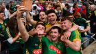 Meath celebrate winning the Christy Ring Cup. The final against Antrim will be replayed on June 25th. Photograph: Inpho