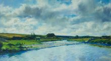 'Liffey, Up Stream' , an oil on canvas by Thomas Ryan (estimate: €5,000-€7,000).