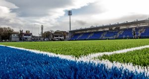 The rugby pitch in Donnybrook has an all-weather rubber playing surface. Photograph: James Crosbie/Inpho.
