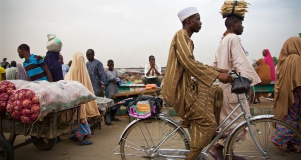 The market in Maiduguri, the Borno State capital which is steadily becoming  more secure.
