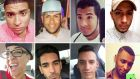 Victims of the shooting at the Pulse nightclub in Orlando.  Top row (left to right): Stanley Manolo Almodvar III, Peter O Gonzalez-Cruz, Luis Vielma and Luis Omar Ocasio-Capo.   Bottom row (left to right): Kimberly Morris, Juan Ramon Guerrero, Eric Ivan Ortiz-Rivera and Eddie Jamoldroy Justice.