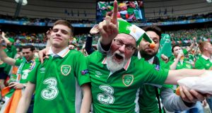Rep of Ireland  fans make it  just in time after  late flight cancellation