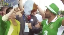 Irish fans 'hijack' Hungarian TV news report after Sweden game