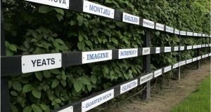 The Sadlers Wells Roll of Honour of Group One winners at Coolmore Stud in  Fethard, Co Tipperary. Photograph: Dara Mac Dónaill/The Irish Times
