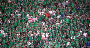 French confusion at 'Irlande du Nord' fan in Sweden shirt