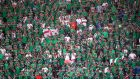 Northern Ireland fans at the Stade de Nice on Sunday. Photograph: Nick Potts/PA Wire