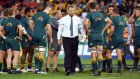 Australia head coach Michael Cheika needs a win to keep the series alive in Melbourne. Photograph: Getty Images