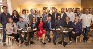 Fáilte Ireland's new food champions (front row, l to r) Jacinta Dalton, Gabriel Faherty, Olivia Duff, Ketty Elisabeth, Garrett Fitzgerald, Chris Molloy, Ruth Healy and Brid Torrades. (Back row, l to r)  Kevin Ahern, Seáneen Sullivan, Claire Dalton, Tom Flavin, Judith Boyle, Ivan Varian, Aine Maguire, Pádraic Óg Gallagher, Patrick Ryan, John Relihan, Anthony O'Toole and Niall Sabongi. Photograph: Pat Moore