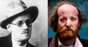 James Joyce and Sam Coll, right, who has reinterpreted his short story, Grace