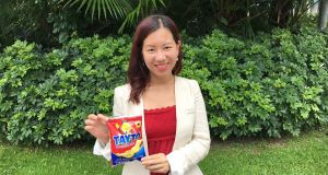 Former banker Rosa Chan, a Malahide-reared Trinity graduate now importing Tayto crisps into Hong Kong.