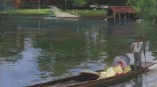 'A Summer Evening – The Thames' (oil-on-canvas painted circa 1913) by Sir John Lavery £80,000-£120,000 (€101k-€151k)