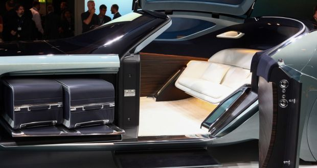 Rolls royces vision of a self driving future includes bespoke cars suitcases sit inside a luggage compartment in the rolls royce vision next 100 concept solutioingenieria Gallery