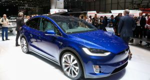 The  Tesla Model X crossover: likely to be as big a hit as the Model S