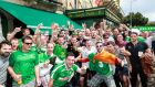 Fans on tour: Republic of Ireland faithful show their devotion. Photograph: James Crombie/Inpho