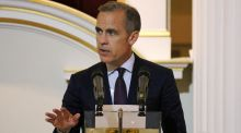 Governor of the Bank of England Mark Carney delivers a speech about murdered MP Jo Cox before the dinner to the bankers and merchants at The Mansion House in London, last night. Photograph:  Neil Hall/Reuters