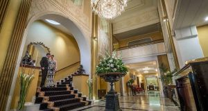 The lobby of the Imperial Hotel, Cork, which is celebrating its 200th anniversary this year. Photograph: Flynn Hotels