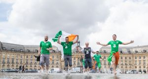 Republic of Ireland fans in  Bordeaux, France, for Euro 2016. Photograph: ©INPHO/James Crombie