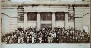 Times past: The original Oireachtas 1913 group photograph outside the Town Hall in Galway