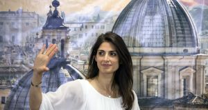 Rome's mayor-elect: Virginia Raggi of the Five Star Movement trounced her PD rival, Roberto Giacchetti. Photograph: Alessia Pierdomenico/Bloomberg
