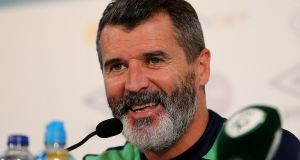 "Ireland assistant manager Roy Keane: ""As long as we work hard, don't give the ball away as cheaply, cut out the individual mistakes and get a few decisions, then we've got a chance."" Photograph: Donall Farmer/Inphho"