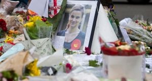 A memorial to murdered Labour MP Jo Cox  outside the Houses of Parliament in London, England. Photograph: Justin Tallis/AFP/Getty Images