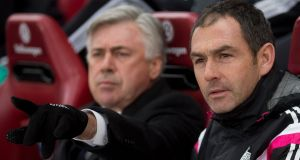 While assistant coach to Carlo Ancelotti at Real Madrid - Paul Clement now rejoins the Italian's backroom team in Germany. Photograph: Gonzalo Arroyo Moreno/Getty Images