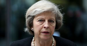 British home secretary Theresa May has warned of Irish Border controls in the event of Brexit. File photograph: Philip Toscano/PA Wire