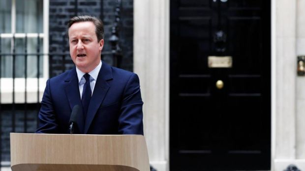 Britain's Prime Minister David Cameron asked voters to consider the economic and security risks of leaving the EU. Photograph: Stefan Wermuth/Reuters