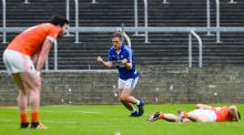 Laois's Evin Keane celebrates scoring the last point of the game against Armagh– but now  the teams must do it all again. Photo: Tom Beary/Inpho
