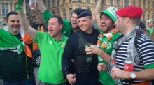 Ireland fans take over Lille night before Italy match