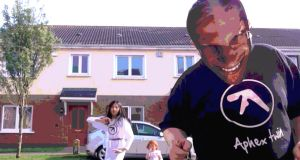 Twelve-year-old Ryan Wyer and cast in the video for Aphex Twin's new video Cirklon3