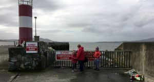 Slipway at Buncrana before the work was carried out: the gateway to it, which was open at the time of the tragedy last year, is to remain locked between 8pm and 10am. Photograph: Peter Murtagh / The Irish Times