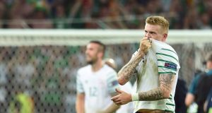 James McClean had one of his best games for Ireland against Italy in Lille. Photograph: Afp
