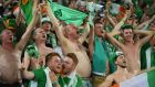 The Government is to consider the possibility of establishing a 'fan zone' in Dublin for soccer fans to watch Ireland take on France on big screens. Photograph: Matthias Hangst/Getty Images