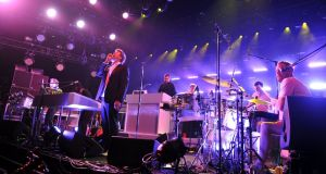 LCD Soundsystem performs at Madison Square Garden in New York City. Photograph: Theo Wargo/WireImage