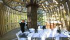 Perched high in a redwood forest the namesake Redwoods tree house, originally called the Yellow Treehouse restaurant, is a place to perch and be seen. Designed by Peter Eising of New Zealand-based Pacific Environments Architects the structure resembles an enormous chrysalis that looks like it's been grafted onto the 40m-high arbour. Constructed of poplar slats and redwood balustrading milled at the site the space makes extensive use of natural light. The firm has also used the concept at a resort-based self-contained accommodation in Poland. Photograph: Lucy G photography