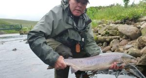 Paul de Neef, Belgium, with a fine Owenmore salmon