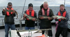 Happy Mayo anglers on board charter boat 'Leah' in Killala Bay