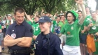 Irish fans bond with French police